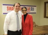Jonathon Rowland at the campaign launch for former Iowa State Senator Swati Dandekar during her Congressional race in 2014.