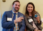 Kyle Johnson & My Tran of Grossberg Company, LLP take a break from accounting to enjoy some wine and bites at the 16th Annual Gaithersburg-Germantown Chamber of Commerce Wine Tasting held at the Kentlands Mansion in Gaithersburg, Maryland.  Photo credit: Laura Rowles, Director of Events & Marketing, Gaithersburg-Germantown Chamber of Commerce