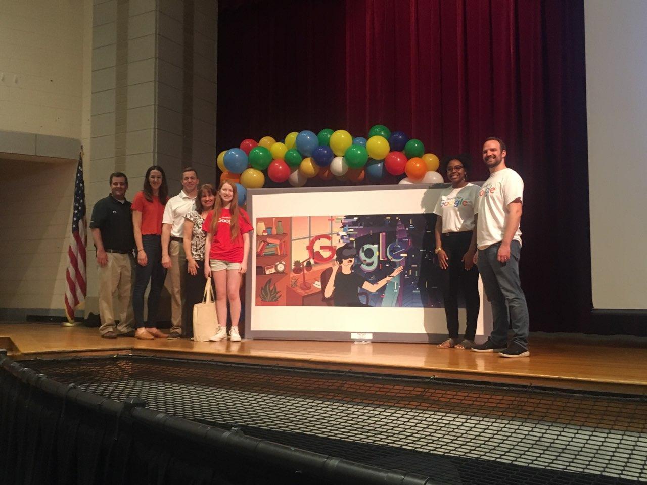 Northwest 9th Grader Wins 'Doodle for Google' Competition