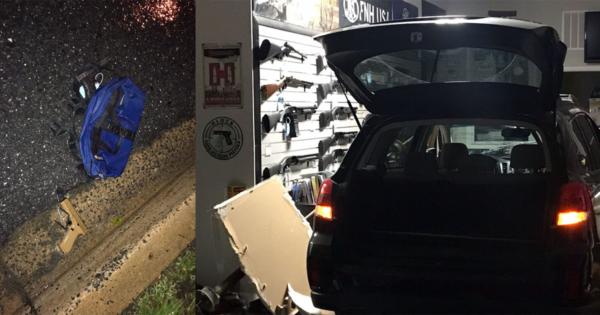 Four Men Involved in Rockville Gun Shop Burglary at Large
