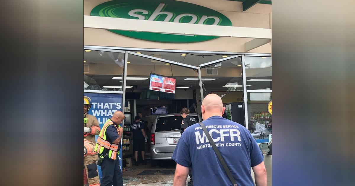 Van Crashes Into Gaithersburg Gas Station   Montgomery Community Media