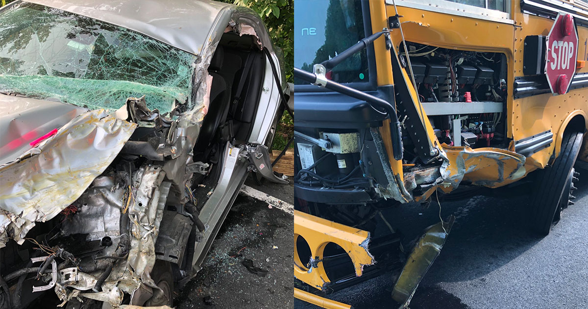 Two Injured in School Bus Crash in Olney, No Students On