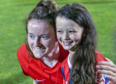 feature washington spirit rose lavelle with fan july 20 2019