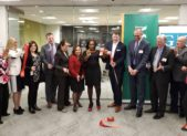 (l:r) Shurla Samuel, M&T Bank; Marji Graf, Rockville Chamber of Commerce; Afreen Husain, M&T Bank; John Murphy, M&T Bank; Andrea Whitehouse, M&T Bank; Claudia Gamero, M&T Bank; AJ Nwoga, M&T Bank; Chris Nichols, M&T Bank; Rob Wehner, M&T Bank; Jeff Samuels, Office of Congressman Chris Van Hollen; Bruce Kanner, Cartridge on Wheels; and Marilyn Balcombe, Gaithersburg-Germantown Chamber at the Gaithersburg-Germantown Chamber Ribbon Cutting Ceremony for the grand opening of M&T Bank's grand opening of their new regional headquarters. M&T Bank provides banking, insurance, investments, mortgage and commercial financial services through more than 750 branches, 1800 ATMs, and a variety of online and mobile services. (photo credit: Laura Rowles, Director of Marketing, Gaithersburg-Germantown Chamber)