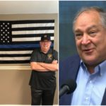 Hogan Responds to Elrich Over Thin Blue Line Flag Controversy