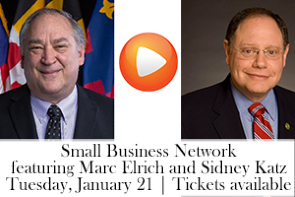 January 21 SBN graphic with Marc Elrich and Sidney Katz image for sidebar