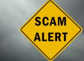 feature scam alert scam-alert-conceptual-traffic-sign-and-stormy-sky-picture-id1159462975