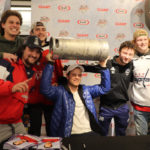 Caps Star Carlson Greets Fans at Olney Giant