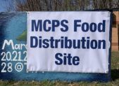 MCPS meals food distribution site at Clarksburg march 17