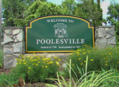 feature Poolesville sign