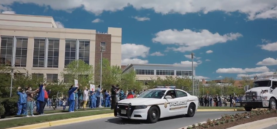 Police Honor Adventist Healthcare Workers With A Parade