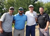 What a swing! Kenny Kramek, DeLeon & Stang, CPAs & Advisors; Brett Friedman, DeLeon & Stang, CPAs & Advisors; PJ Horan, Highlander Financial Group; and Sean Falk, DeLeon & Stang, CPAs & Advisors were the first-place winning team at the 30th annual Gaithersburg-Germantown Chamber of Commerce Business Golf Classic at Worthington Manor Golf Club.  (photo credit: Laura Rowles, GGCC Director of Events & Marketing)