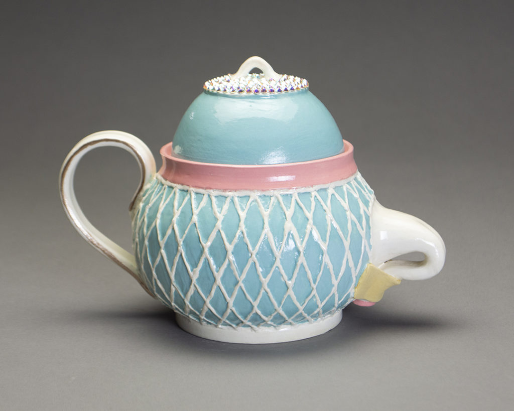 photo of Tucked Teapot Blue by Connor Czora at Sandy Spring Museum Makers Among Us Exhibit