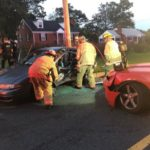 Driver Pinned Inside Car in Two Vehicle Collision