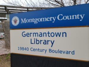 photo of Germantown Library branch sign