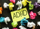 feature ADHD sign attention-deficit-hyperactivity-disorder-sign-and-paper-balls-picture-id1176496095