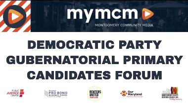 2021 democratic gubernatorial candidates forum graphic