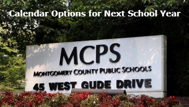 MCPS sign for school calendar web post